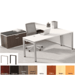 PLT Variant Series with Steel Base and Low Storage File Bench with Cushion