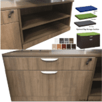 PL1012 Lateral Box File Cabinet with Fabric Seat Cushion
