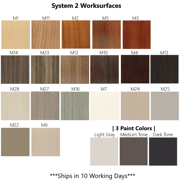 Friant 10-Day Laminate Finishes & Paint for System 2