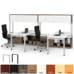 PLT1012 & PLT3066 L-Shaped File Benching Desk with Hutches