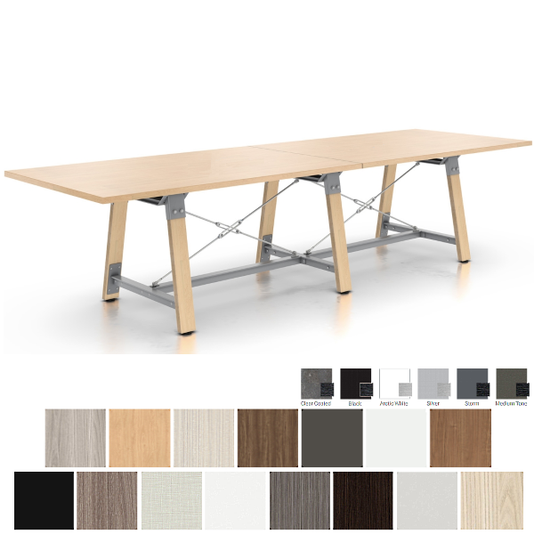Enwork Conference Table with Two Piece Top