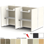 Fh-4017 Set of 4 Cubicles with Shelf