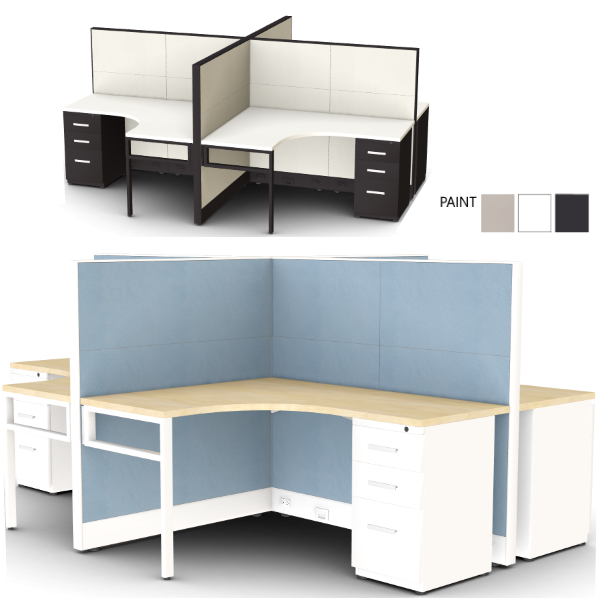 Interior curved surface - cubicle - mid wall height