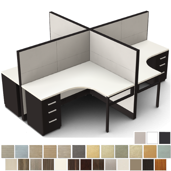 """4 Person Workstation - 53""""H"""
