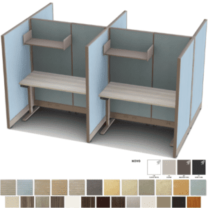 "Set of 4 67""H 4' x 3' Cubicles"