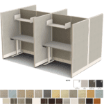 Set of 4 Cubicles in 2x2