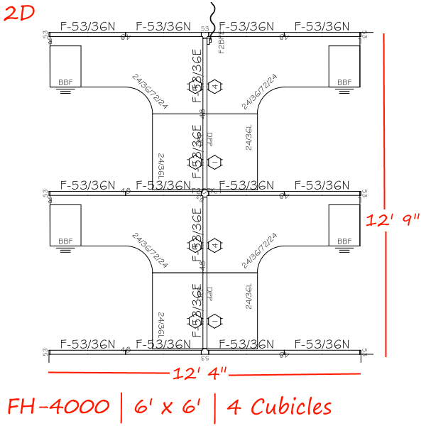 2D Drawing - Anderson & Worth Office Furniture