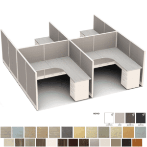 Set of 4 Cubicles - 6x6