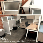 Novo Glass Panel Cubicles - Clear and Frosted Glass