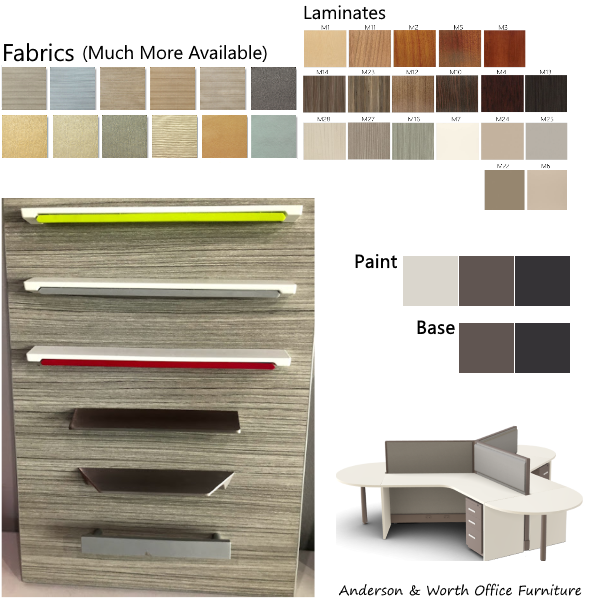 Honeycomb cubicles materials and finishes