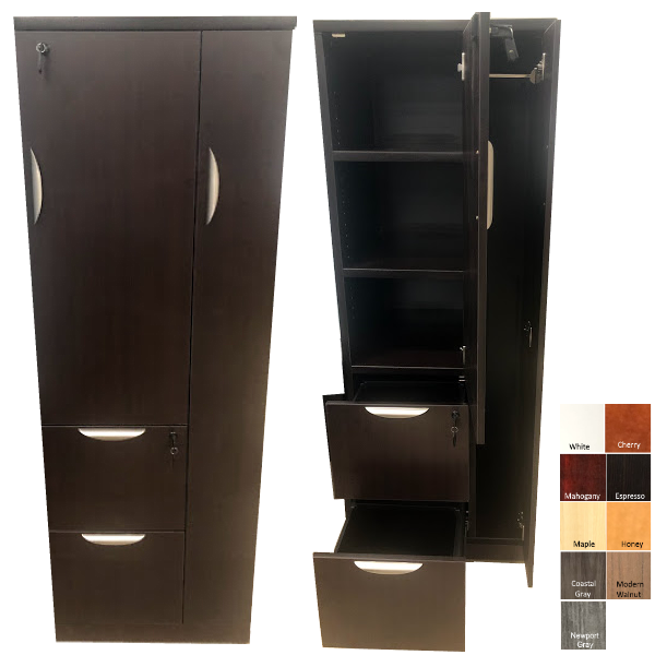 Pl207 Cabinet with Open and Closed Doors & Drawers