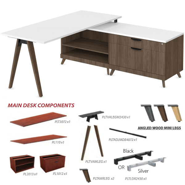 L-Shaped Desk Components Bill of Material