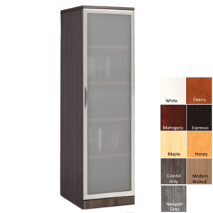 PL150 Frosted Glass Door Cabinet with adjustable shelves