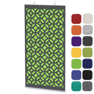 Two Core Acoustical Panels - Retro Patten Top Layer - Back Solid panel