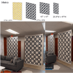 metro ceiling and wall mount panels