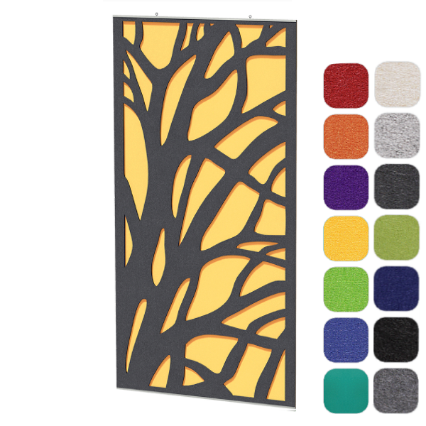 Branches Pattern Two Core Acoustic Panel