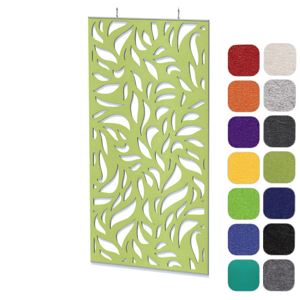 Foliage Pattern Acoustical Panel - Ceiling or Wall Hung Board