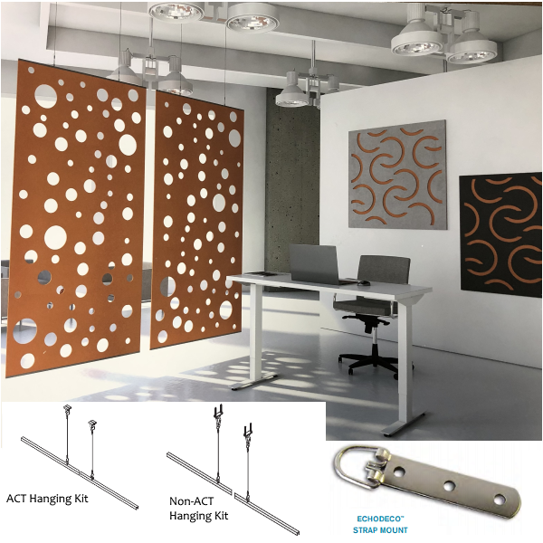 Wall and Ceiling Acoustical Sound Masking for Public Space and Offices