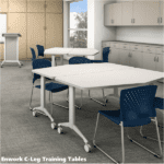 Pentagon Shaped Tables - Training Tables