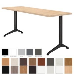 "Maple & Black Training Table - 18"" or 24"" Surface"
