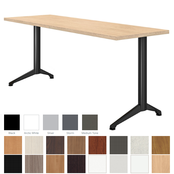 """Maple & Black Training Table - 18"""" or 24"""" Surface"""