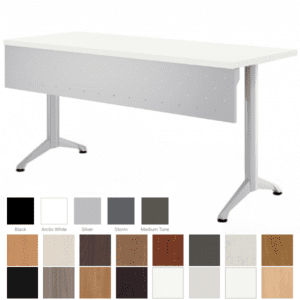 Zori Modesty Panel Table with Steel Modesty Screen