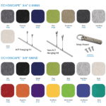Colors and Hanging Hardware for Panels PET Acoustical Material