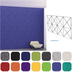 Acoustic wall covering sound masking