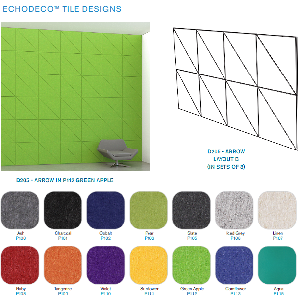 Layout B - Acoustical Wall Tiles