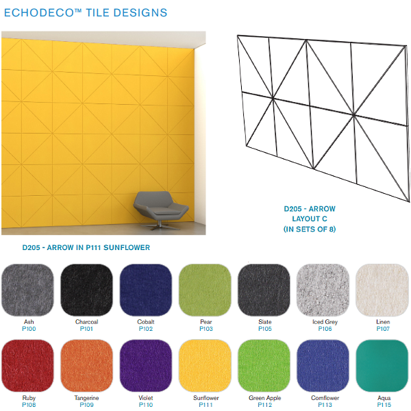 Acoustic Colorful Wall Covering