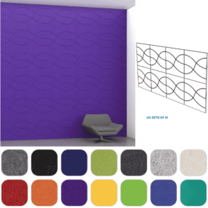 Violet Wall Infinity pattern - layout A