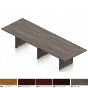 12' x 4' Conference Table in 5 Finish Colors