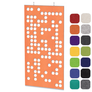 Honeycomb Pattern Ceiling Hung Panel Divider