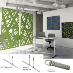 Wall and Ceiling Hung Acoustical Sound Masking Panels