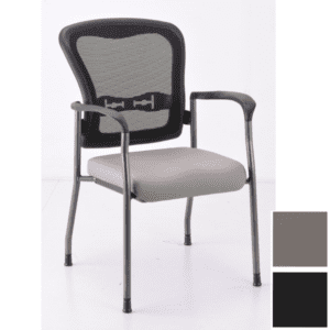 anti-microbial guest chair with mesh backr